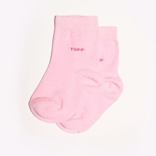 Egyszínű rózsaszín Baba zokni/Bokazokni