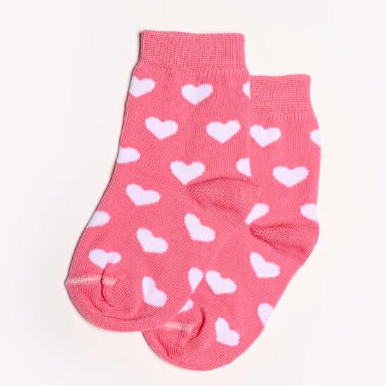 Baba zokni/Bokazokni pink fehér szívek