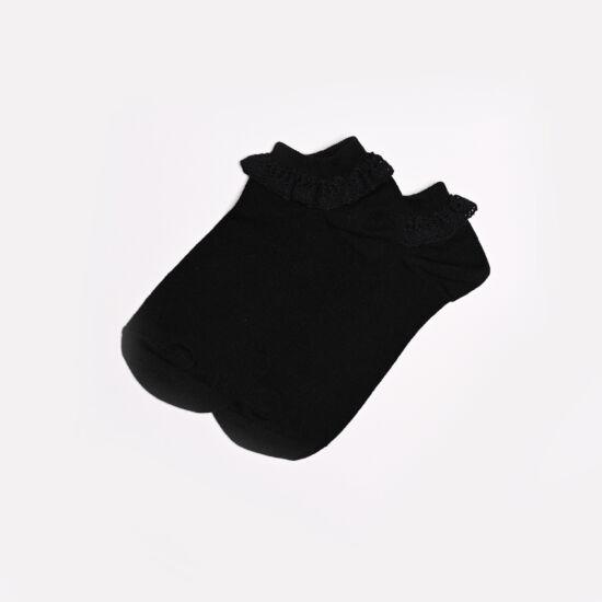 Női titokzokni fekete csipkés