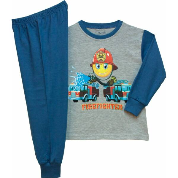 Fiú pizsama tűzoltó 92-98 / 104-110