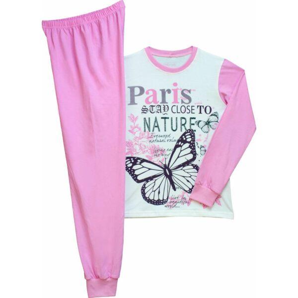 Lány hosszú ujjú pizsama pillangó 128