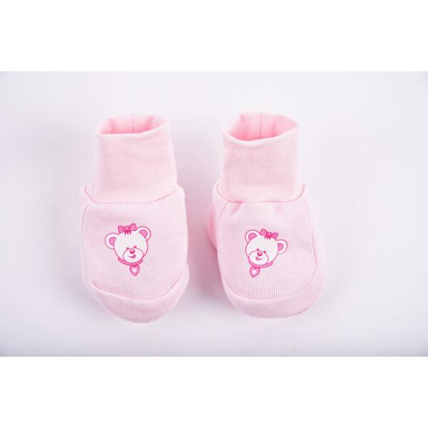 Teddy cipőcske maci - rózsaszín
