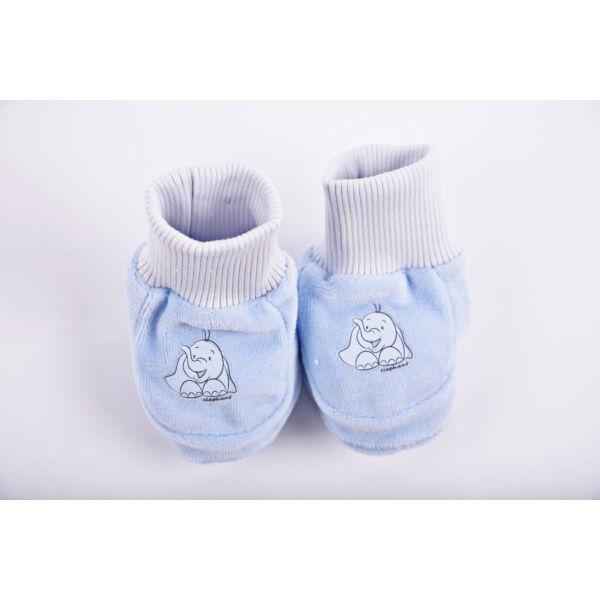 Safari cipőcske elefánt - plüss kék