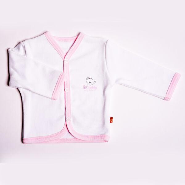 Teddy kocsikabát-rózsaszín szegéllyel