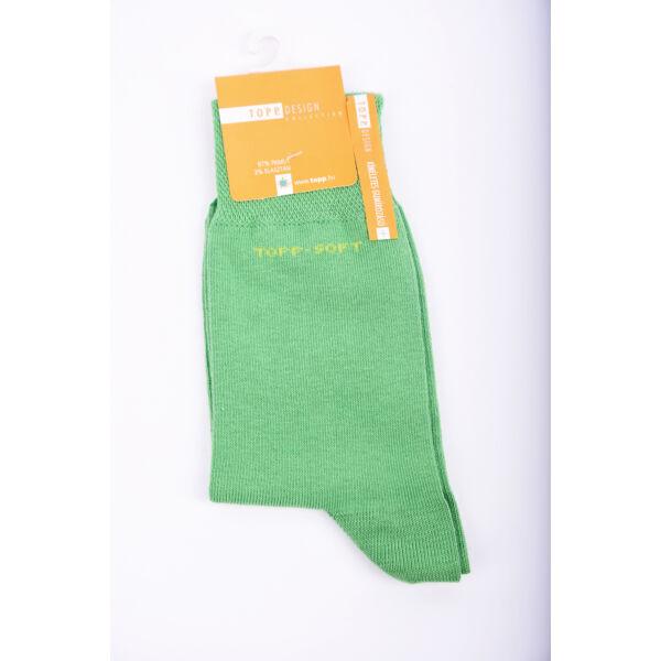 Női bokazokni lágy gumírozással zöld