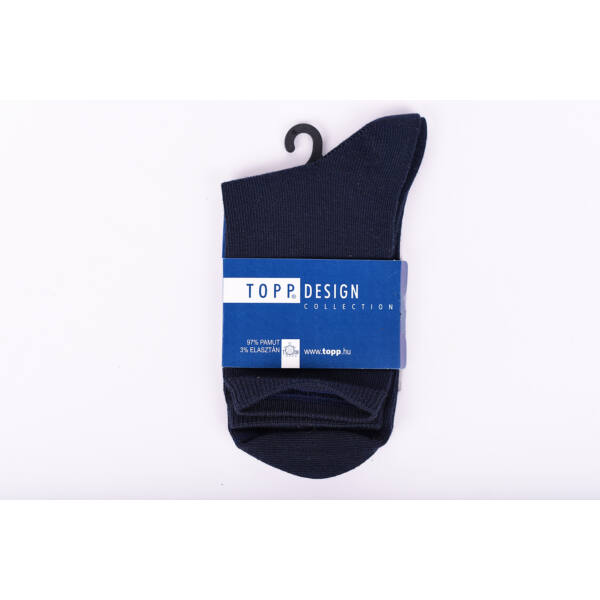 Egyszínű női dobozos zokni sötétkék