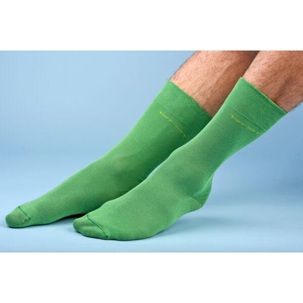 Férfi elegáns bokazokni lágy gumírozással zöld