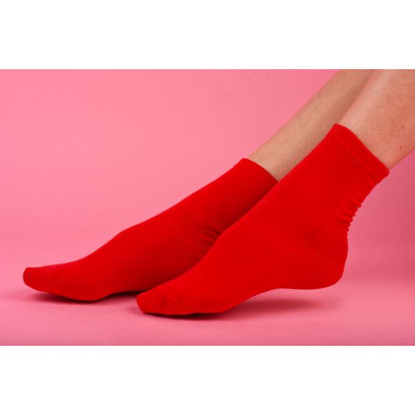 Női bokazokni Jenny piros