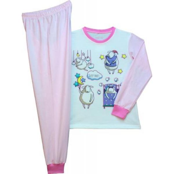 Lány pizsama bárány 128