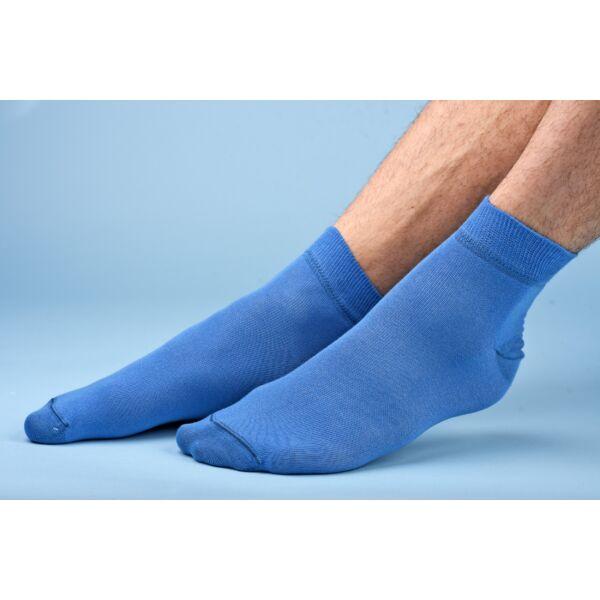 Felnőtt rövid szárú zokni azúr kék