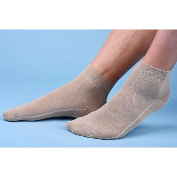 Rövidszárú lágyan gumírozott zokni drapp