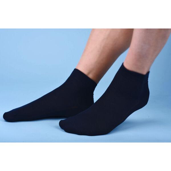 Rövidszárú lágyan gumírozott zokni sötétkék