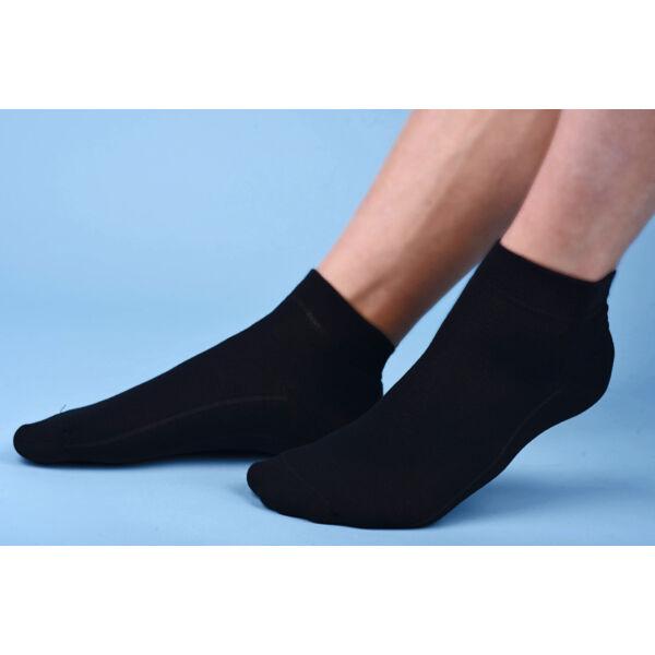 Rövidszárú lágyan gumírozott zokni fekete