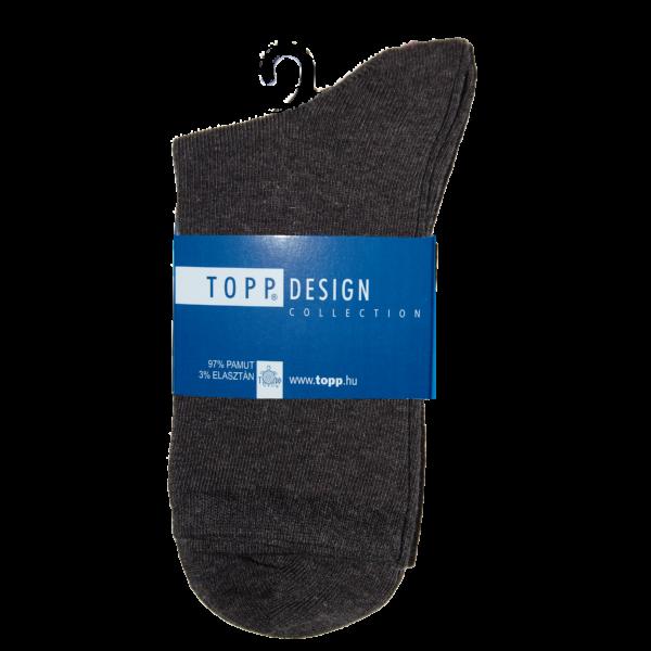 Egyszínű Női dobozos zokni melange sötétszürke