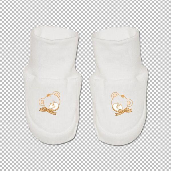 Teddy pamut cipőcske fehér