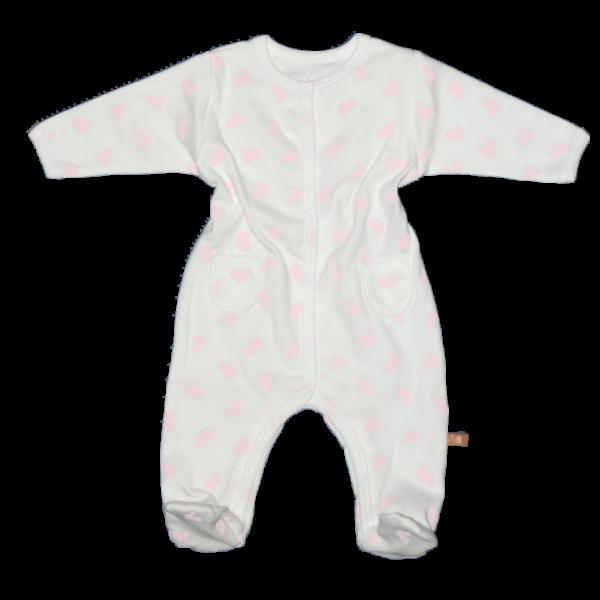 Teddy rugdalódzó fehér alapon rózsaszín nyuszis